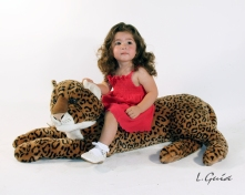 Little girl w/ panter